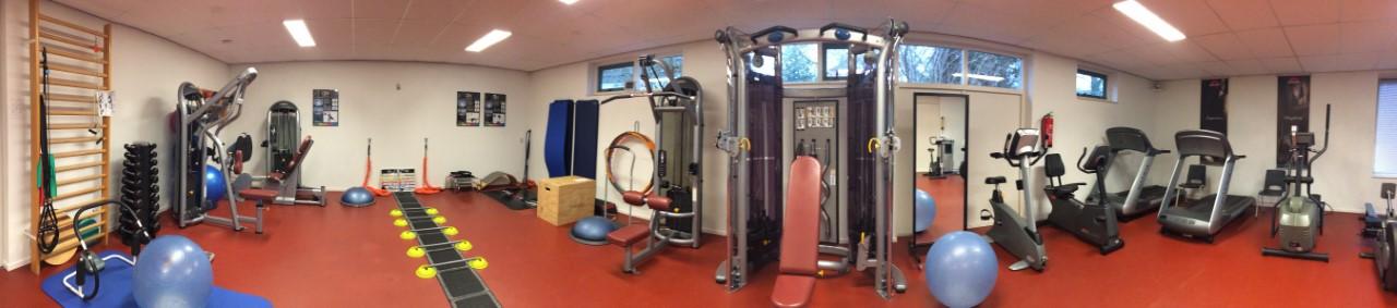 trainingsmogelijkheden in oefenzaal van provitaal fysiotherapie Meeden