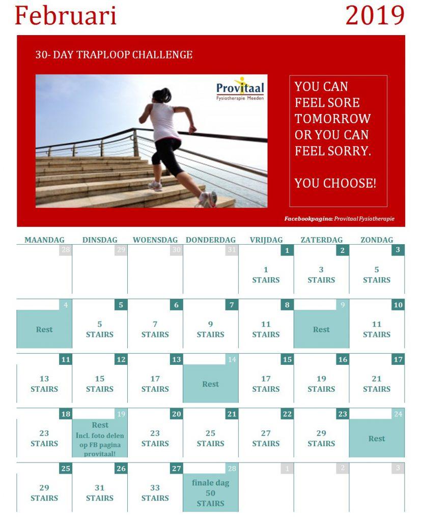 traploopchallenge maand bij Provitaal Fysiotherapie Meeden